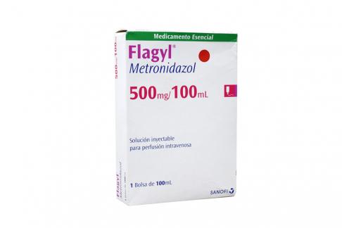 Flagyl 500 mg Caja Con 1 Inyección Prellenada Rx