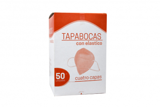 Tapabocas Con Cuatro Capas Caja Con 50 Unidades