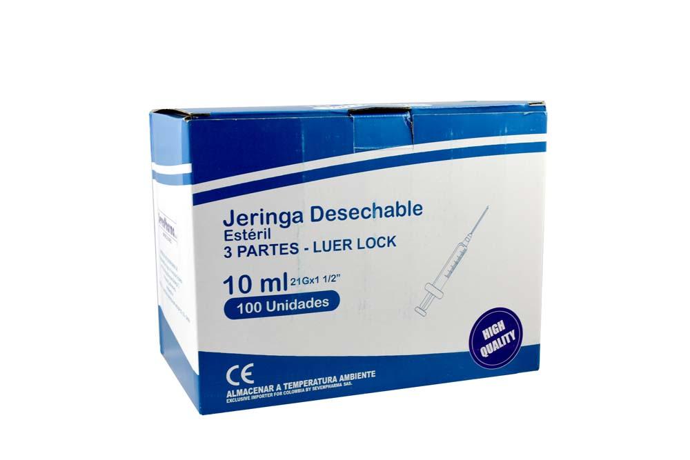 Jeringa Desechable 3 Partes 10 mL Begut Caja Con 100 Unidades