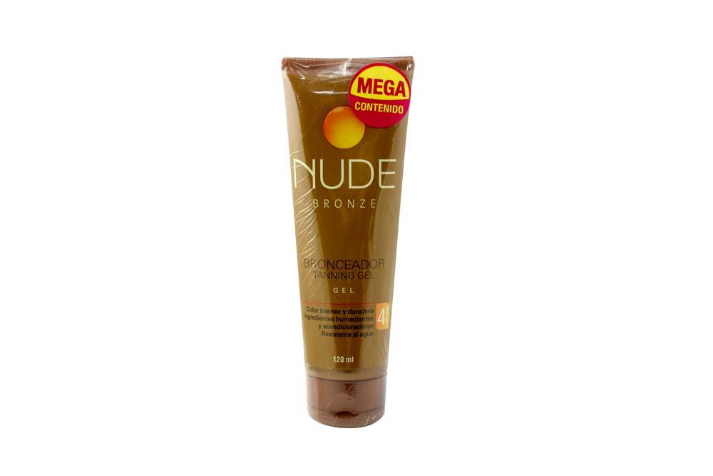 Bronceador Nude Tanning Gel Frasco Con 120 mL