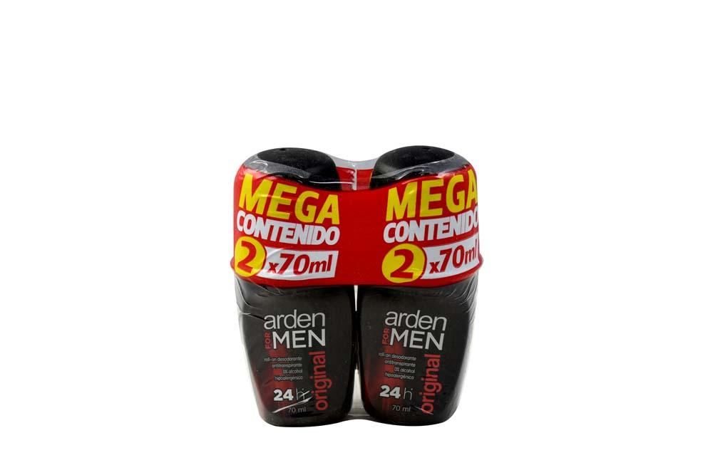Desodorante Arden For Men Original Roll-On Empaque Con 2 Frascos Con 70 mL C/U
