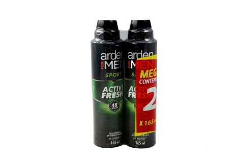 Desodorante Arden For Men Sport 48 Horas Empaque Con 2 Aerosoles Con 165 mL C/U