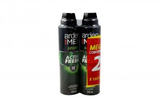 Desodorante Arden For Men Sport 48 Horas Empaque Con 2 Aerosoles Con 165 mL C/U