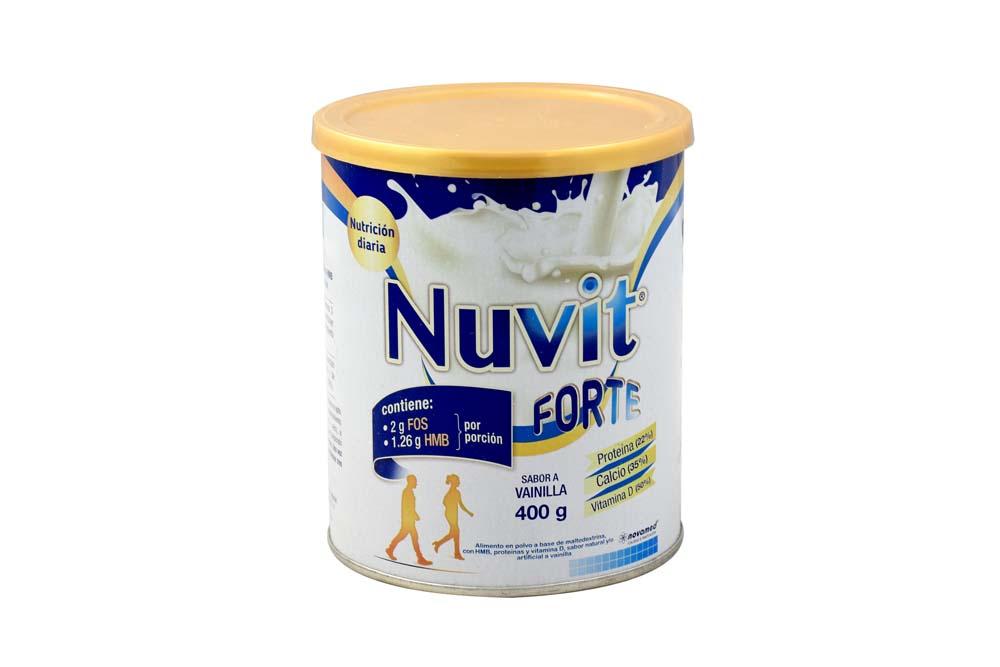 Nuvit Forte Sabor Vainilla Lata Con 400 g