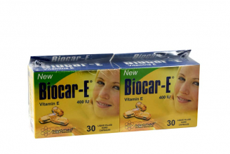 Biocar-E 400 UI Vitamina E Caja Con 30 Cápsulas