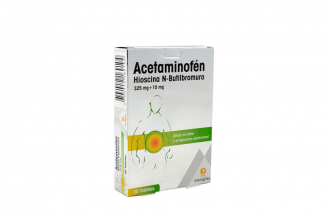 Acetaminofén N-Butilbromuro De Hioscina 325/10 mg Caja Con 20 Tabletas