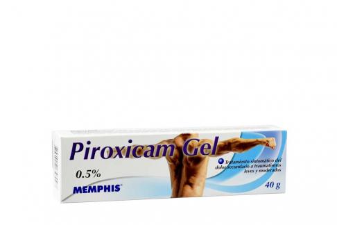 Piroxicam Gel 0.5% Caja Con Tubo Con 40g
