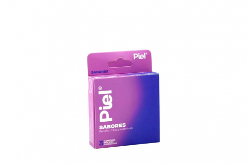 Condones Piel Lubricados Sabores Caja Con 3 Unidades
