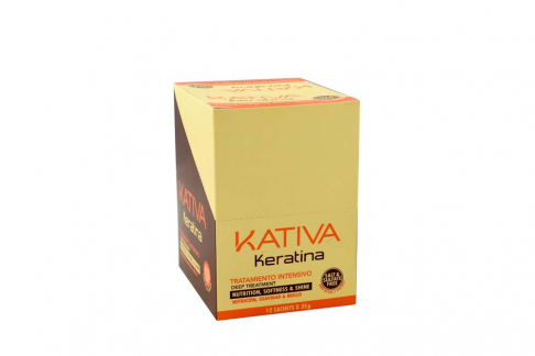 Kativa Tratamiento Intensivo Keratina Caja Con 12 Sobres
