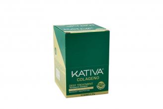 Tratamiento Capilar Kativa Colágeno Caja Con 12 Sobres