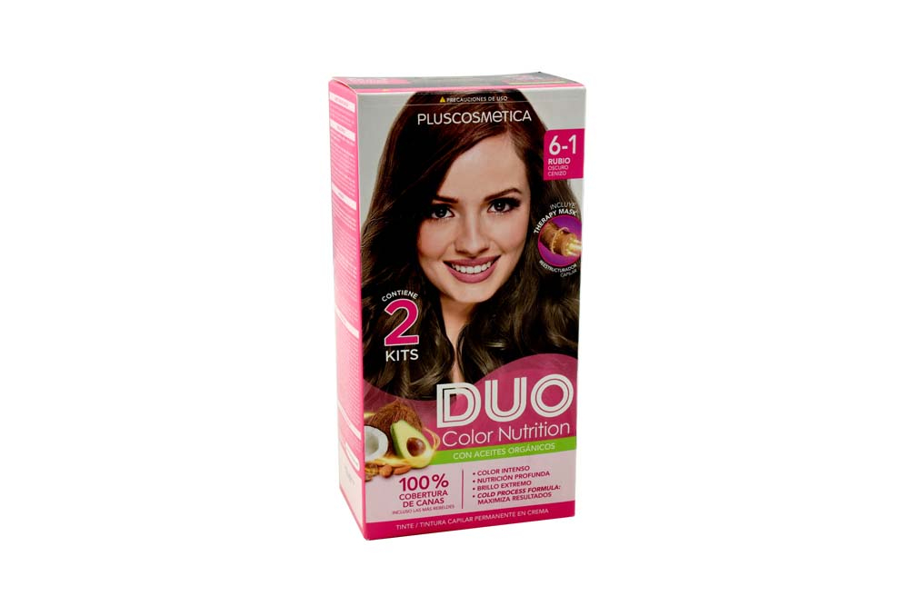 Tinte Duo Color Nutrition Tono Rubio Oscuro Cenizo Caja Con 1 Kit
