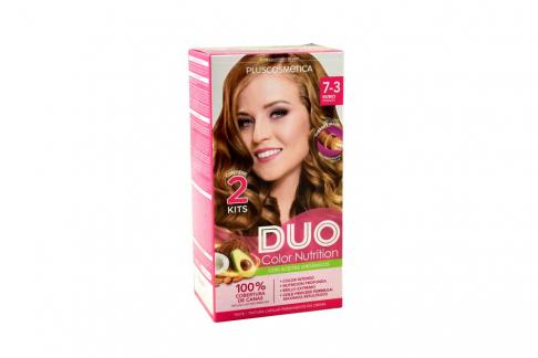 Tinte Capilar Duo Color Nutrition Tono 7.3 Rubio Dorado Caja Con 1 Kit
