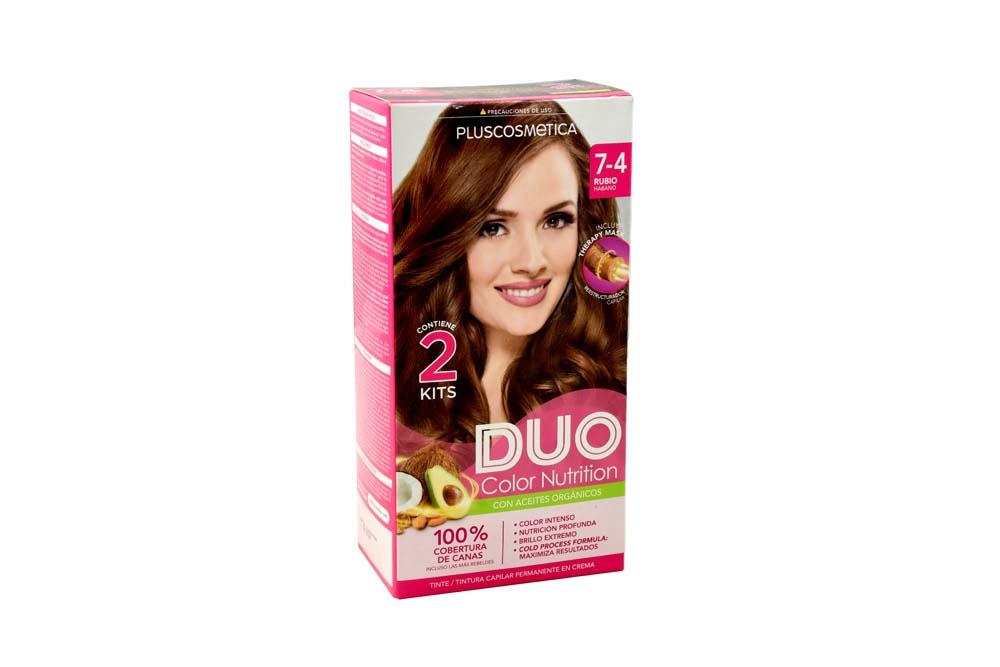 Tinte Duo Color Nutrition Tono Rubio Cobre Intenso Caja Con 1 Kit