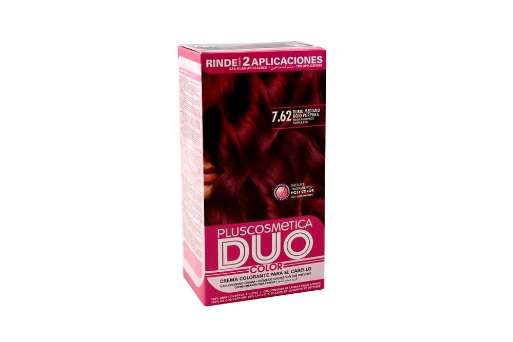 Tinte Capilar Duo Color Nutrition Tono 7.62 Rubio Mediano Rojo Púrpura Caja Con 1 Kit
