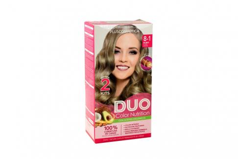 Tinte Capilar Duo Color Nutrition Tono Rubio Claro Cenizo Caja Con 1 Kit