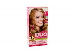 Tinte Capilar Duo Color Nutrition Tono 8.3 Rubio Claro Dorado Caja Con 1 Kit