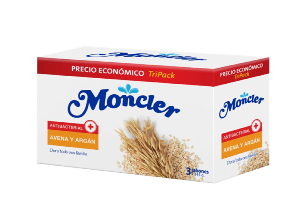 Moncler Jabón De Tocador Antibacterial Avena & Argán Empaque Con 3 Barras Con 145 g C/U