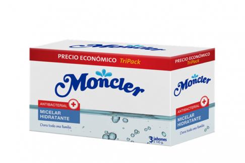 Moncler Jabón De Tocador Antibacterial Micelar Hidratante Empaque Con 3 Barras Con 145 g C/U