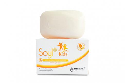 Jabón Soyl Kids Con Soya Limpiador Hidratante Caja Con Barra Con 100 g