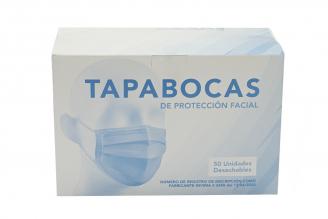 Tapabocas Termosellado Adulto Caja Con 50 Unidades