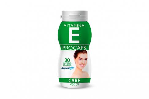 Vitamina E Procaps 400 Ui Frasco Con 30 Cápsulas Blandas