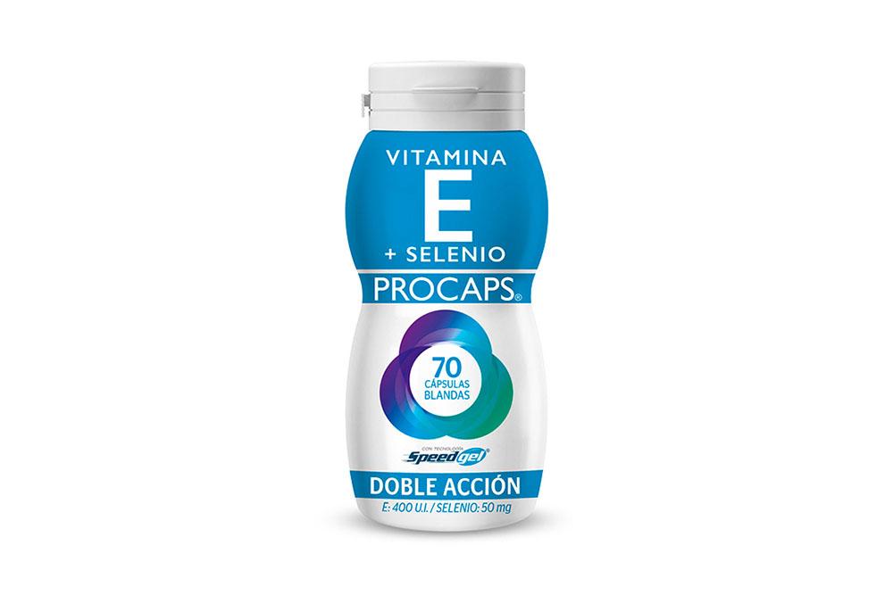 Vitamina E + Selenio Procaps Frasco Con 70 Cápsulas Blandas