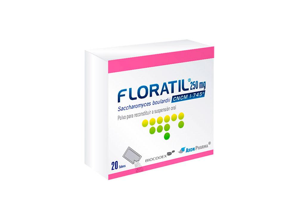 Floratil 250 mg Polvo Para Suspensión Oral Caja Con 20 Sobres