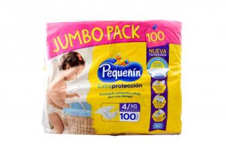 Etapa 4XG Pañal Pequeñín Extraprotección Empaque Con 100 Unidades