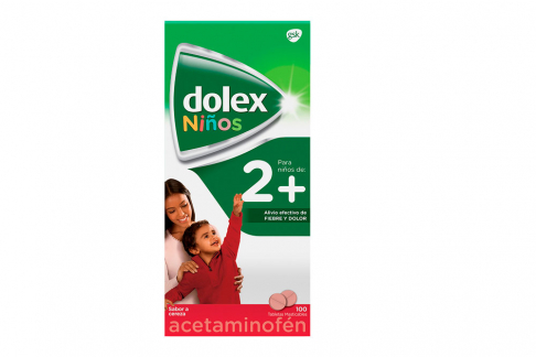 Dolex Niños 2+ Caja Con 100 Tabletas Masticables