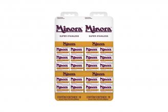Cuchilla Minora 20 cajas con 5 Hojas C/U