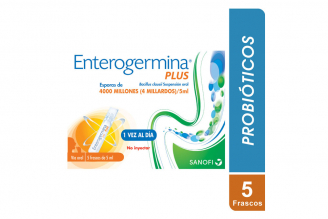 Enterogermina Plus Suspensión Oral Caja Con 5 Frascos De 5 mL C/U