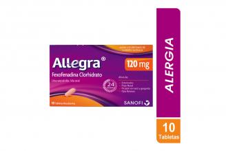 Allegra 120 mg Caja Con 10 Tabletas Recubiertas