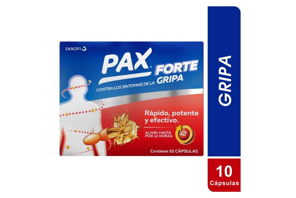 Pax Forte Gripa Caja Con 10 Cápsulas