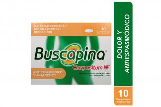 Buscapina Compositum NF 10 / 325 mg Caja Con 10 Comprimidos Recubiertos