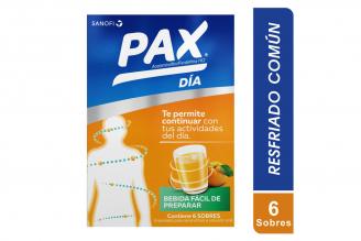 Pax Día Sabor Naranja Caja Con 6 Sobres De 6 g C/U
