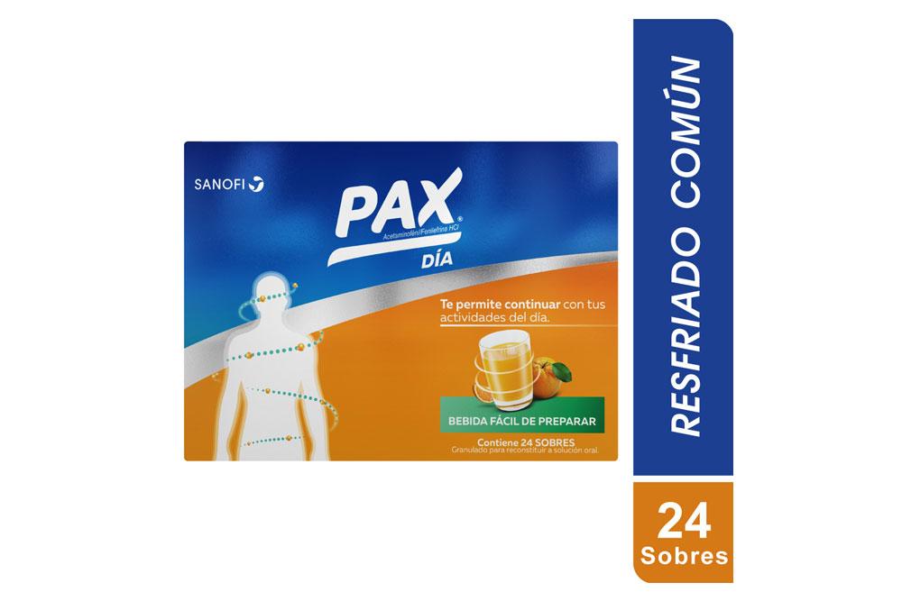 Pax Día Sabor Naranja Caja Con 24 Sobres Con 6 g C/U