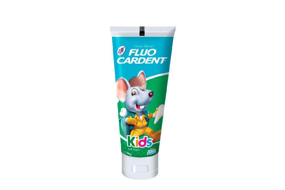 Crema Dental Fluocardent Kids Tubo Con 96 g