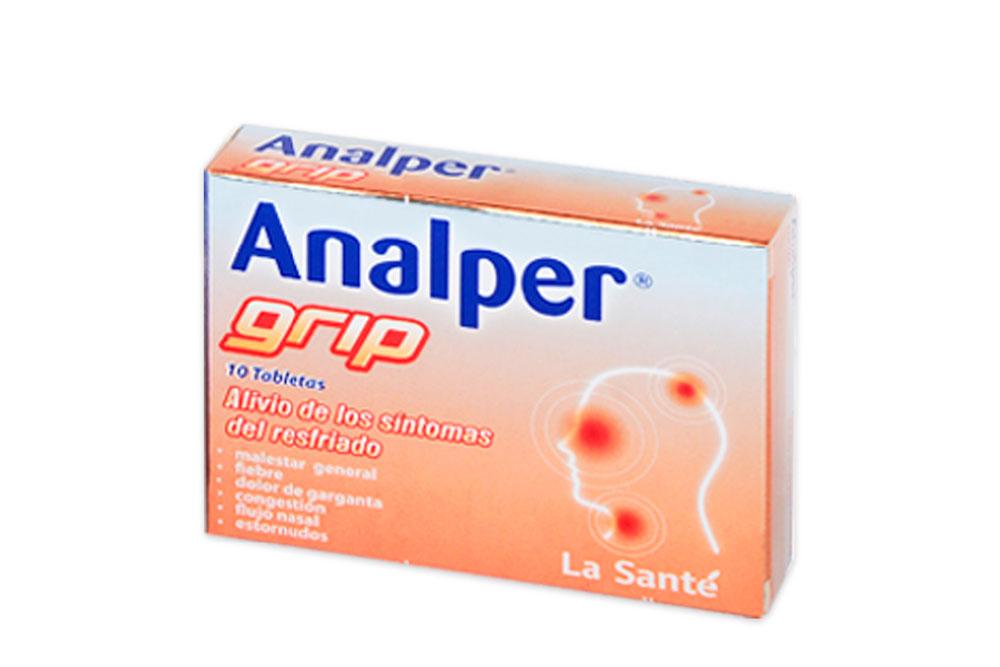 Analper Grip Caja Con 10 Tabletas