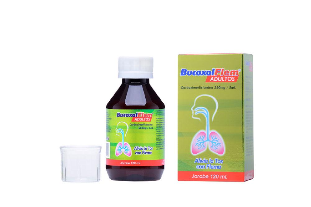 Bucoxol Flem Jarabe 250 mg / 5 mL Caja Con Frasco Con 120 mL
