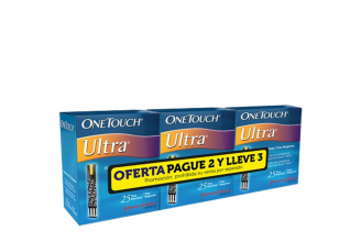 Caja Pague 2 Lleve 3 En Tiras One Touch Ultra C/U 25 Unidades
