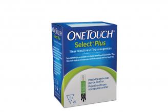 Onetouch Select® Plus Test Strips Caja Con 25 Unidades De Tirillas