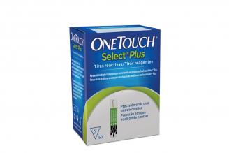 Tiras Reactivas One Touch Select Plus Caja Con 50 Unidades