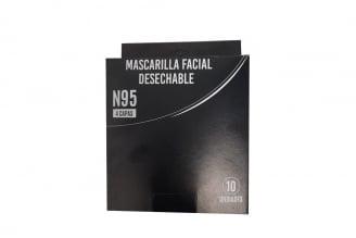 Tapabocas Mascarilla Facial Desechable N95 Caja Con 10 Unidades