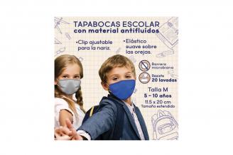 Tapabocas Eurocare Antifluidos Escolar Talla M Empaque Con 3 Unidades