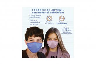 Tapabocas Eurocare Antifluidos Juvenil Talla L Empaque Con 3 Unidades