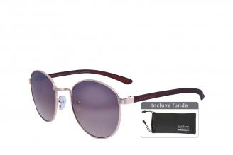 Gafas De Sol Sunbox Platinum M1 Policarbonato Color Café Empaque Con 1 Unidad