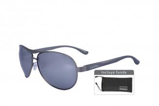 Gafas De Sol Sunbox Aluminum U3 Policarbonato Color Plomo Empaque Con 1 Unidad