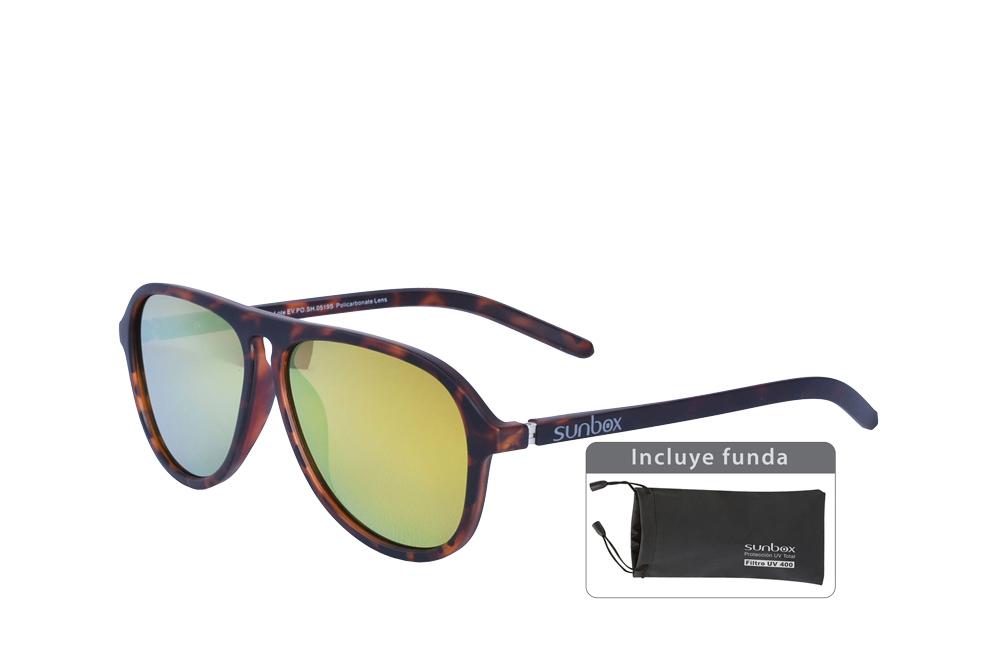 Gafas De Sol Sunbox Platinum F4 Policarbonato Color Carey Empaque Con 1 Unidad
