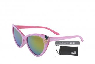 Gafas De Sol Infantiles Suntwister Cute U1 Policarbonato Color Rosado Empaque Con 1 Unidad