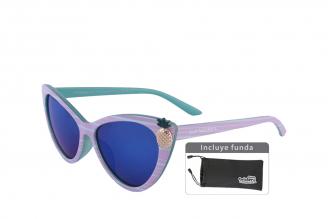 Gafas De Sol Infantiles Suntwister Cute U1 Policarbonato Color Aqua Empaque Con 1 Unidad